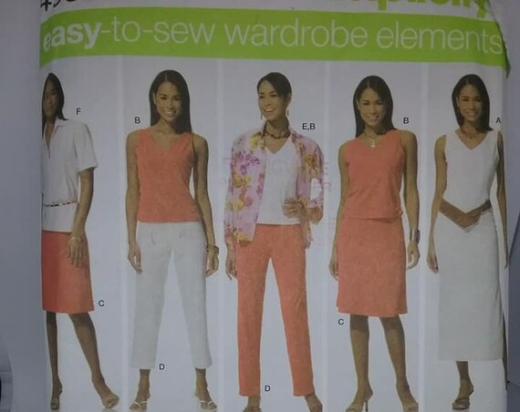 Plus Size Wardrobe, Simplicity Sewing Pattern 4992, Uncut,