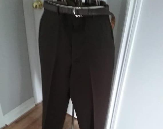 Vintage Men's Brown Trouser, Vintage Men's Brown Dress Pants, Men's Brown Retro Trousers, Towncraft Vintage Pants, 1970s Men's Brown Pants