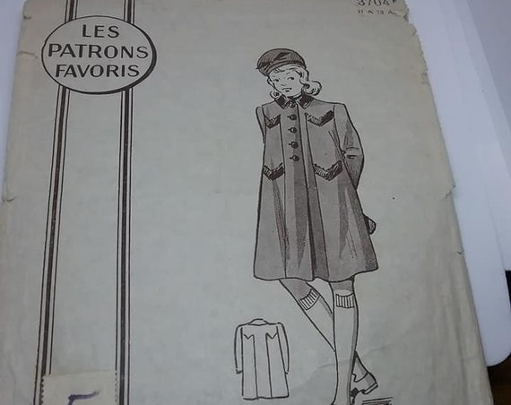 RARE 1930's Sewing Pattern, Marie Claire French