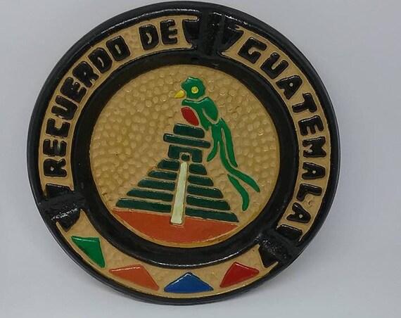 Vintage Ashtray from Guatemala, Guatemalan Made Pottery