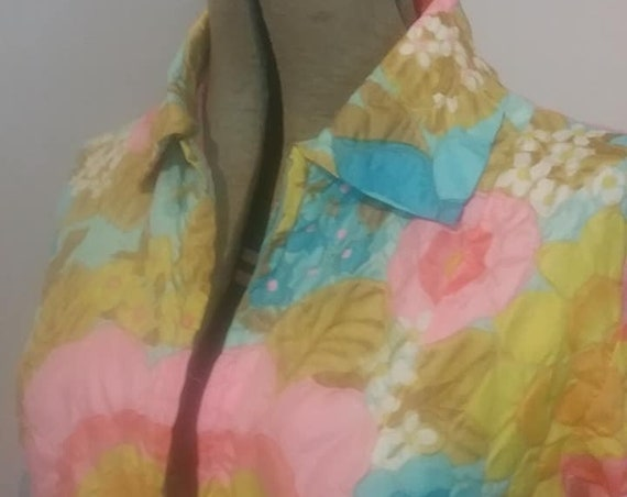 1960's Colorful Floral Robe, by Mr. Robert