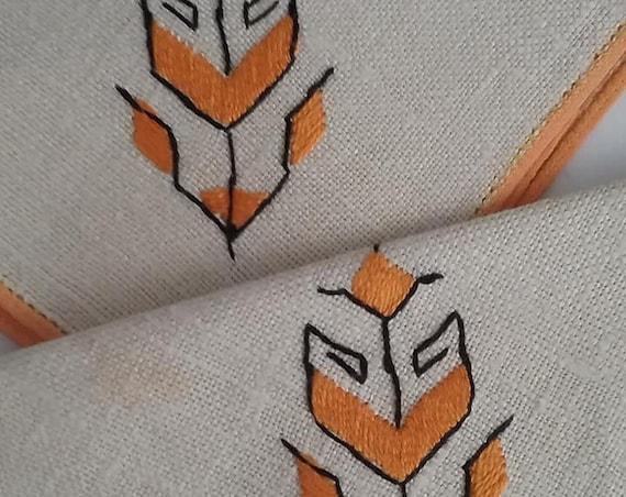 Mid Century Modern Linen Napkins