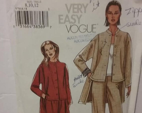Vogue Suit Sewing Pattern
