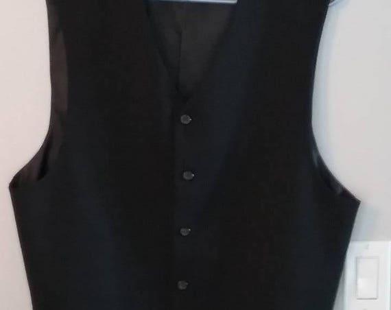 Men's Classic Black Vest, Gentleman's Waistcoat