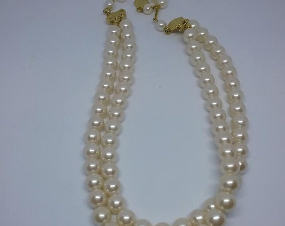 Vintage Richelieu Faux Pearls, Double Strand