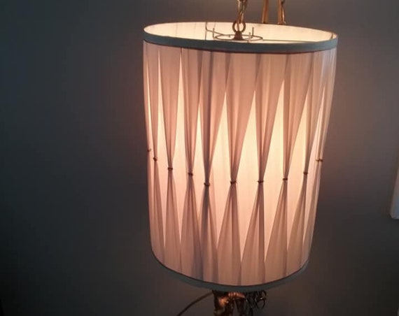 Mid Century Modern Swag Lamp, Pendant Light
