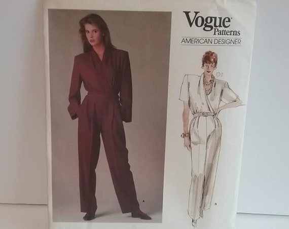 Vogue Jumpsuit Pattern, Perry Ellis Designer