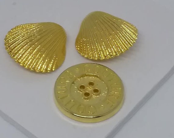 Vintage Couture  Golden Sewing Buttons,
