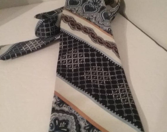 1970s Men's Wide Tie,  by Pierre Cardin