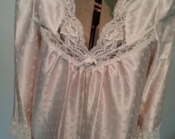 Vintage Lily of France, Blush Pink Nightgown,