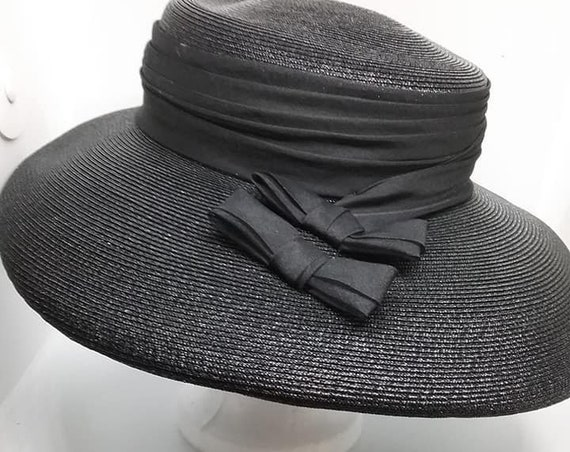 Vintage 1960's Platter Hat by Stetson, Fifth Avenue