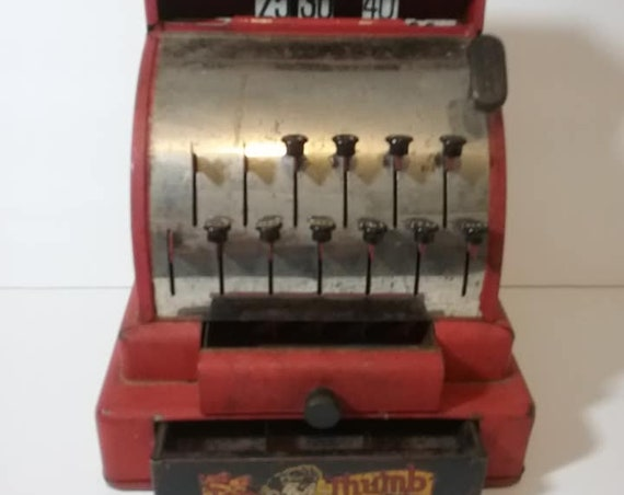 Antique Tom Thumb Red Toy Register