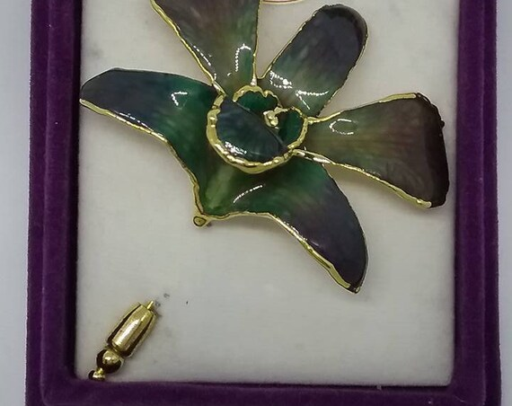 Vintage Orchid Stick Pin, La Belle Collection
