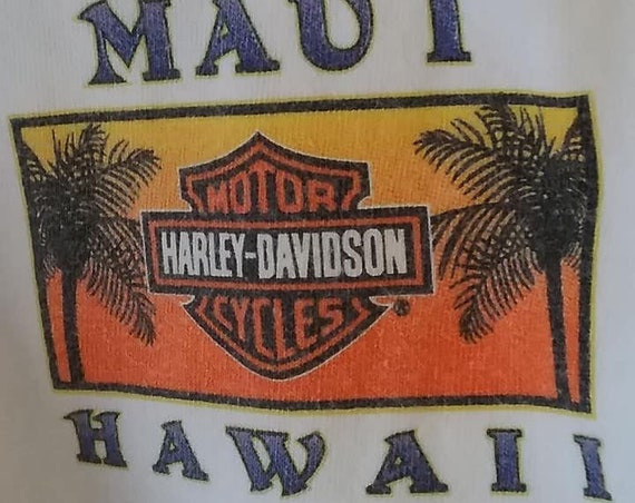 Vintage Harley Davidson Maui Hawaii Tee Shirt