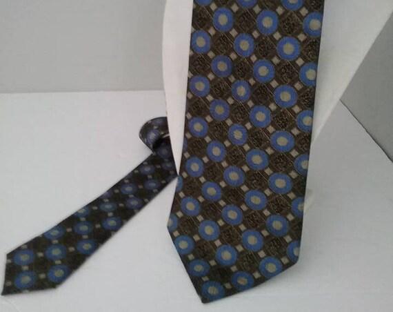 Men's Vintage Tie, Boulevard Club, Italian Silk