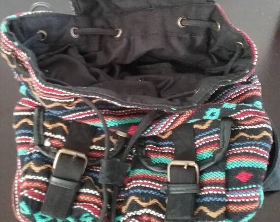 Vintage Woven Aztec Over the Shoulder Bag, India Cotton