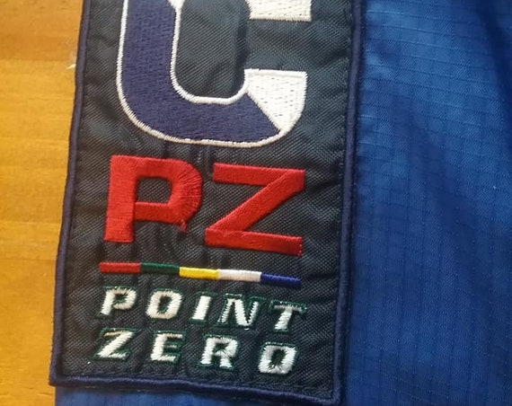 1990's Men's Point Zero Outerwear, CODE FLAG, Nylon with Hood