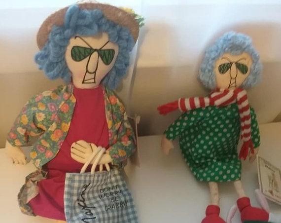 Vintage Hallmark Maxine Dolls, 2 by Dankin