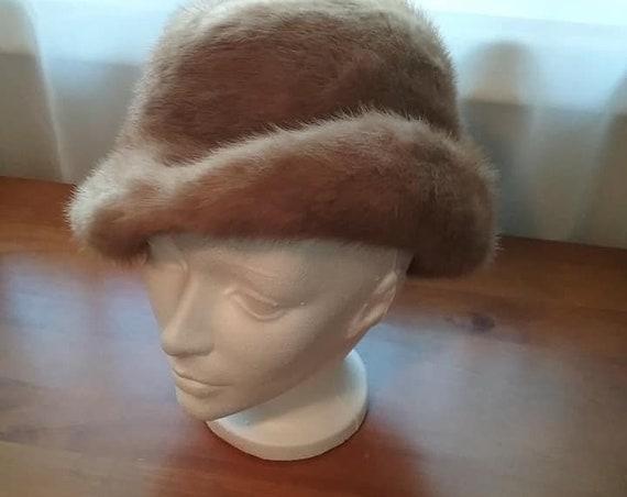 Vintage Woman's Mink Hat, LUNA Montreal