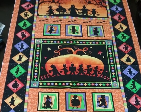 Halloween Quilting Sewing Fabric Panel, by Marcus