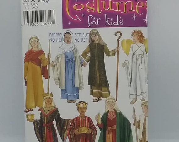 Sewing Pattern for Children's Nativity Costumes, Angel and Shepherd, Simplicity 4797