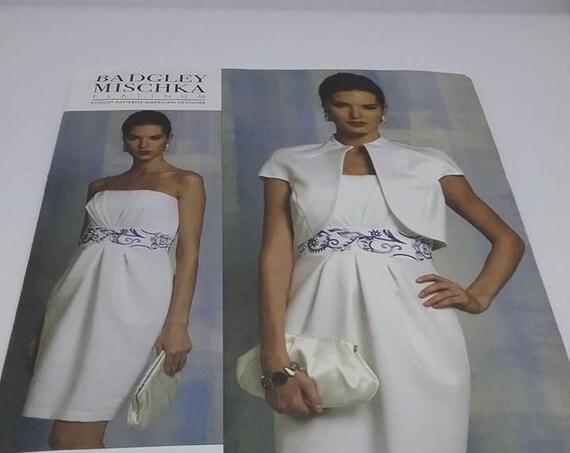 Vogue Designer Pattern, Badgley Mischka Platinum, Dress and Jacket
