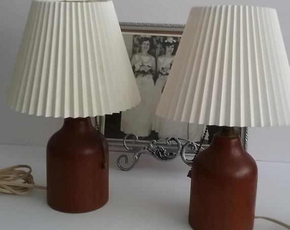 Mid-Century Modern Teak Table Lamps