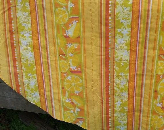 Large Round Mod Tablecloth, Orange and Yellow