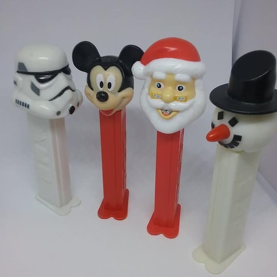 PEZ Dispensers, Mickey,  Storm Trooper, Santa and Snowman