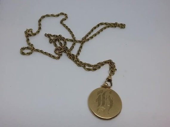 Victorian Gold Filled Locket, Antique Necklace