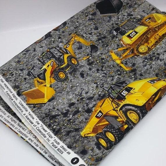 1 Yard Cat Construction Print Fabric, Caterpillar Trademarked