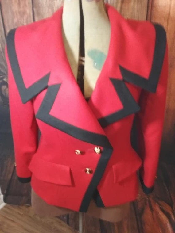 Vintage 80's Nina Ricci Paris Blazer, Red