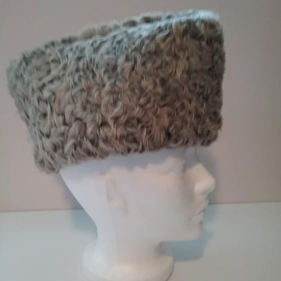 Men's Vintage Persian Lamb Hat, Karakul Russian Hat