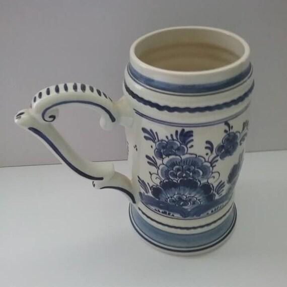 Vintage Blauw Delft Stein, Artist Signed