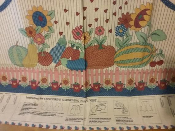 Concords Gardening Fairy Vest Panel
