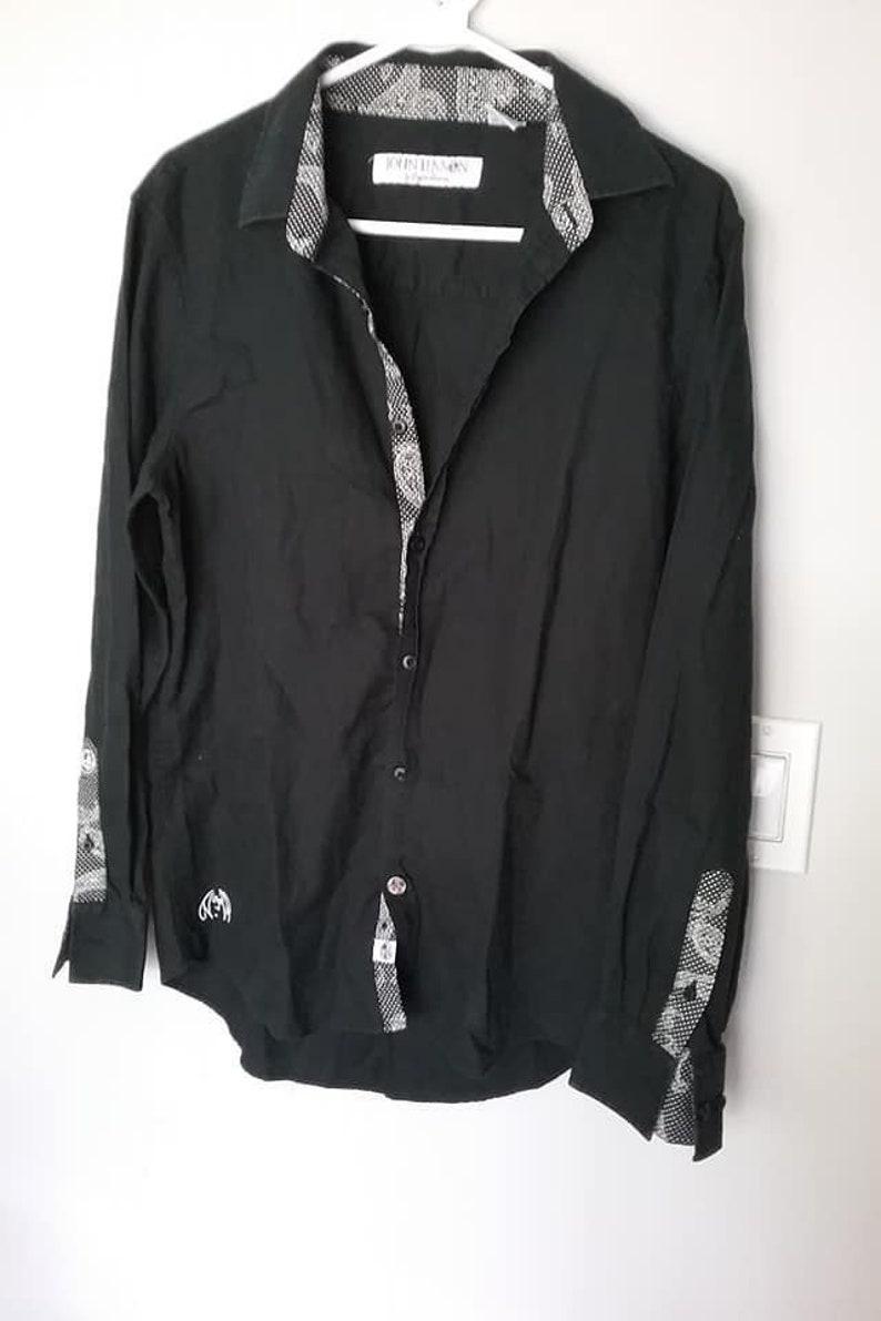 37855f3511 Vintage John Lennon English Laundry Shirt Black John Lennon | Etsy