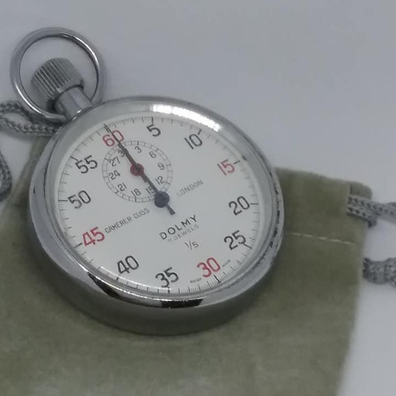 Vintage Swiss Pocket Stop Watch