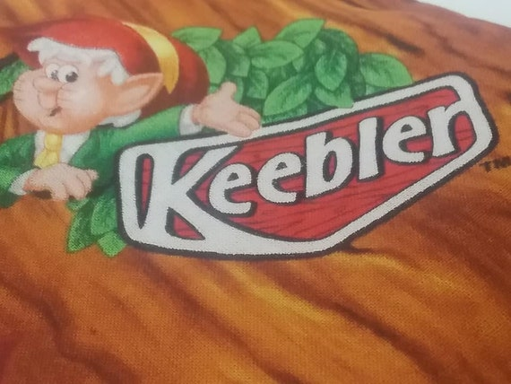 Novelty Material, Keebler Elf Cookies, Licensed Cotton Quilting Fabric