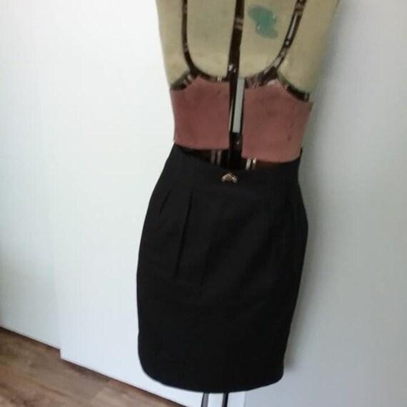 Vintage Virgin Wool Pencil Skirt, Denise Petites