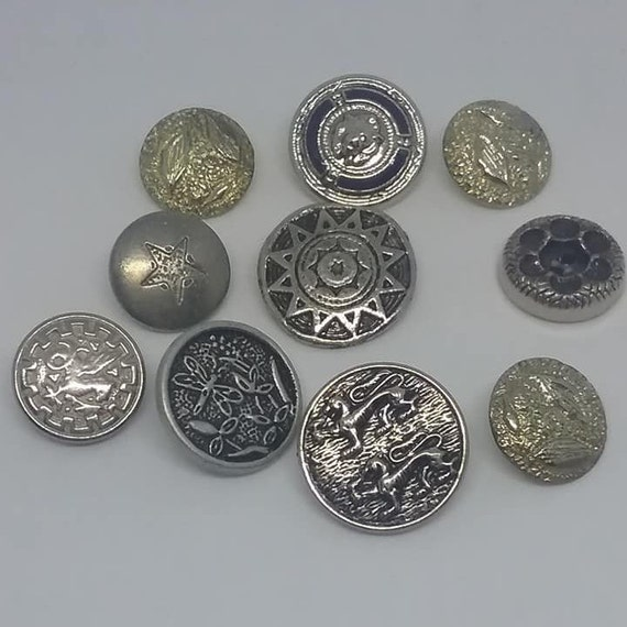 Vintage Mixed Metal Buttons,
