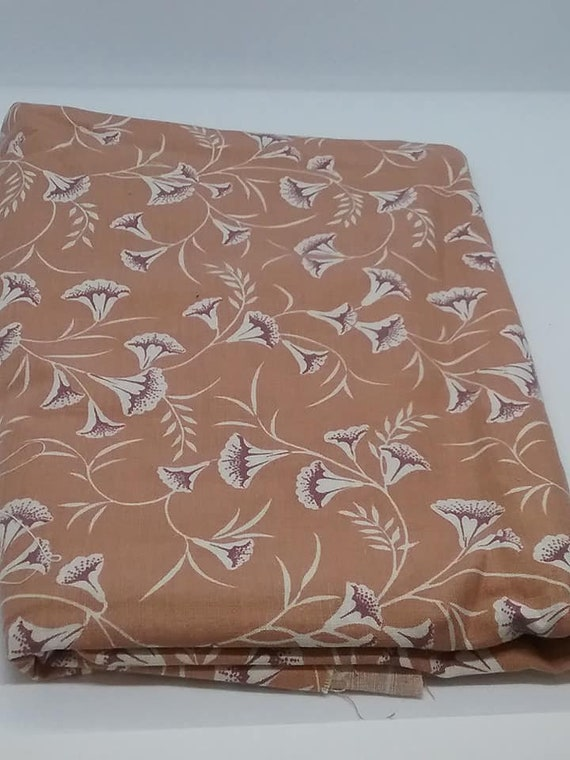 Mod Floral Material, Cranston Print Works USA, Mid-Century Mod, 1.6 Yards Fabric,