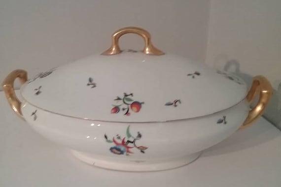 Vintage Tureen with Lid,  Langenthal Hallmarked, Golden Handles,