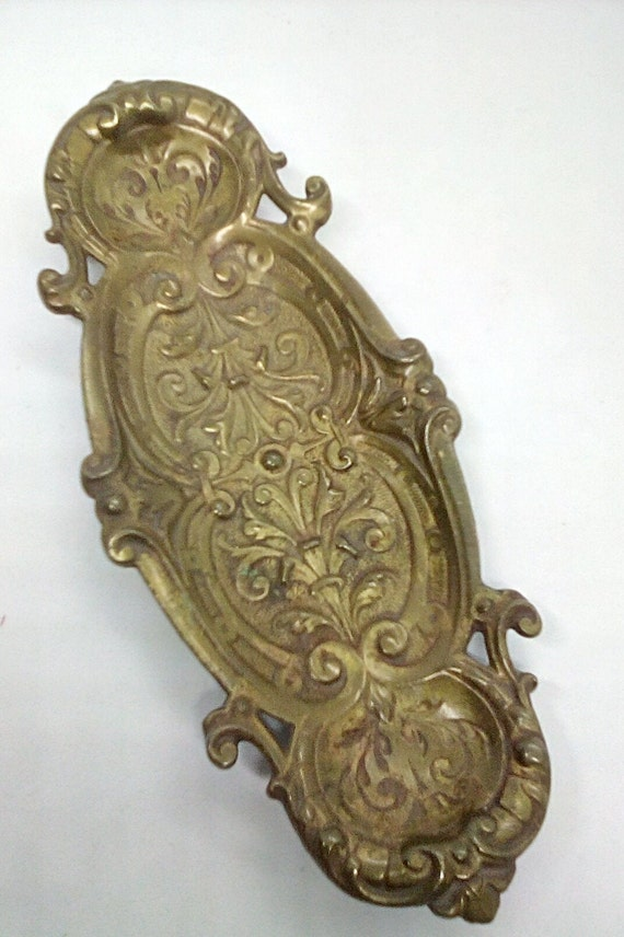 Vintage Brass Decorative Trinket Dish, Vintage Brass Incense Burning Dish