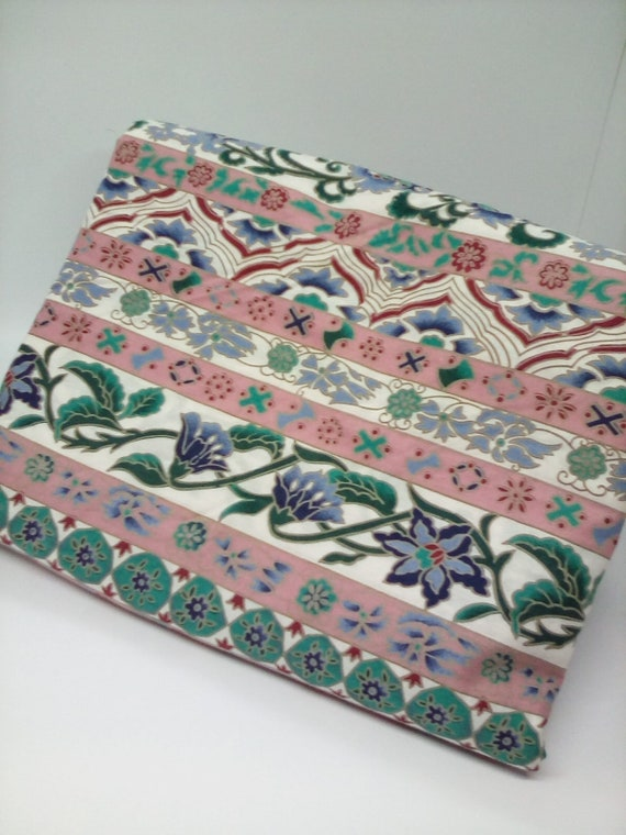 Vintage Floral Fabric, 3yards Cotton Floral, Stripe and Floral Material