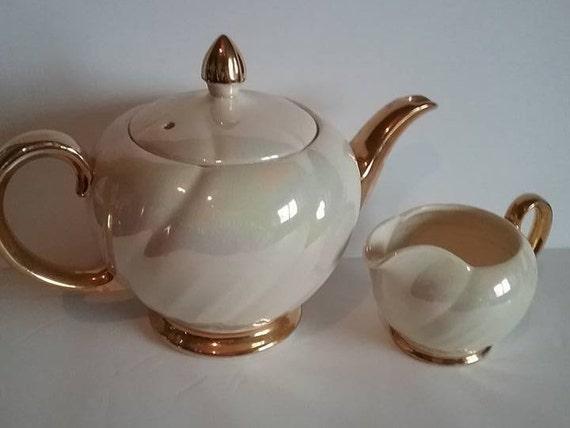Vintage Lustre Glaze Teapot,  Ellgreave Burslem, England.