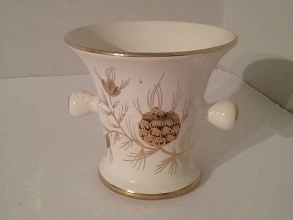 Gouda Dutch Pottery, Mortar Style Vase