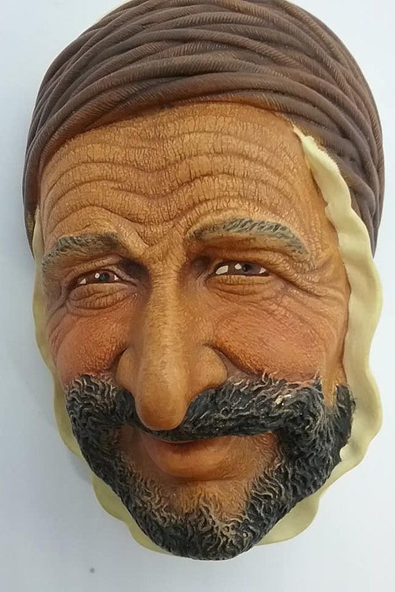 Bosson Head, Persian, World Character Series, Chalkware