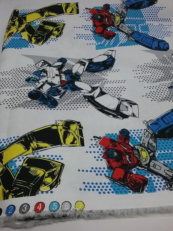 2 Yards Transformers Superhero Novelty Material, Licensed Hasbro Transformers Fabric, Children's Novelty Cotton Fabric
