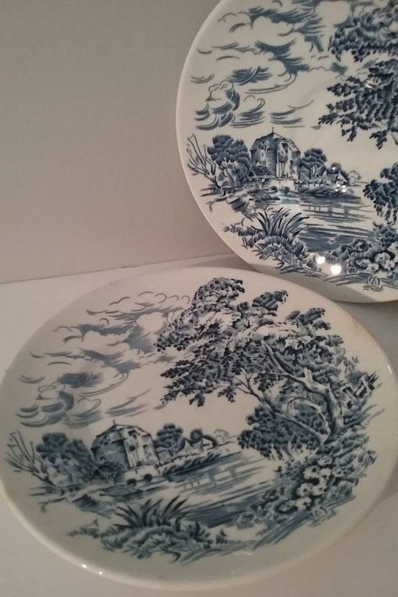 Countryside Wedgwood Saucer and Plate, #VintageWedgwood, Enoch Wedgwood Tunstall Ltd, Countryside Wedgwood Replacements, #buyVintage