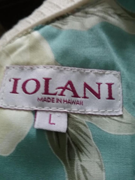 Iolani Hawaiian Sundress Midi, Sleeveless, Large